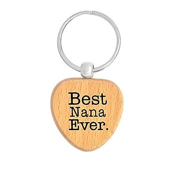 Da.Wa Personalizado Mejor Nana Ever Madera Llavero Llavero ...