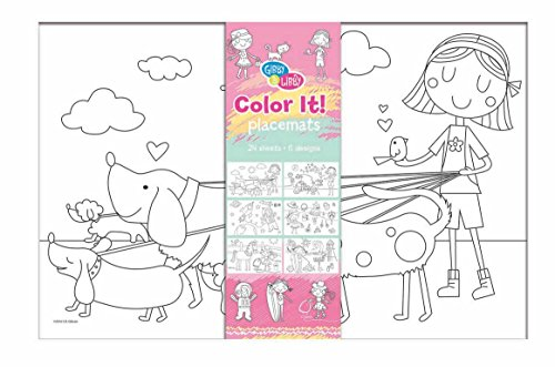 C.R. Gibson 'When I Grow Up' Coloring Sheet Placemats for Kids, 11'' H x 17'' W