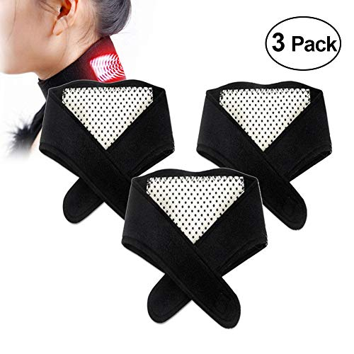 (Tourmaline Magnetic Therapy Thermal Self-Heating Neck Pad Massager Neck Support Brace Natural Healing Device Chronic Pain Relief Physical Therapy Sleep Apnea Arthritis Depression Tension Headaches)