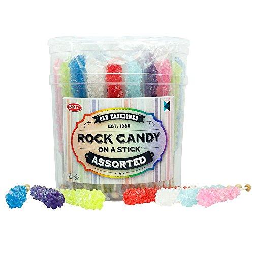 Rock Candy - Swizzle Sticks - Rock Candy Sticks - 36 Sticks - (Assorted) (Cotton Candy Princess)