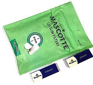 Mascotte de Slim de Mentol Filtros bolsa de 120x 5(Total 600filtros), con marcapáginas en 3d por Trendz