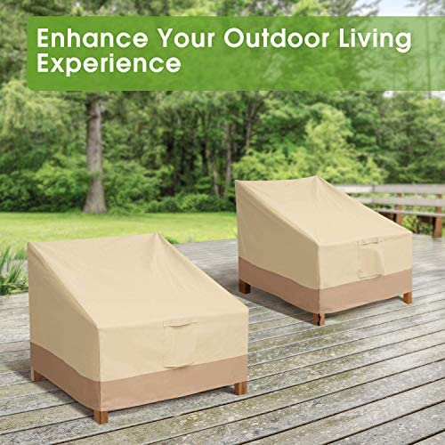 Outdoor Chair Patio Furniture Covers - Heavy Duty Lounge Deep Seat Cover for All Weathers, Durable Patio Covers for Backyard, Veranda, Lawn, Large
