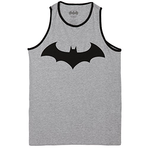 Batman Fly Adult Tank Top-Charcoal (Large)