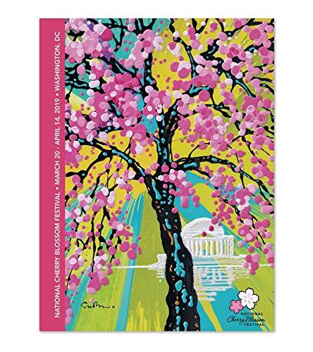 - National Cherry Blossom Festival 2019 Official Artwork Poster by Simon Bull (18x24 in)