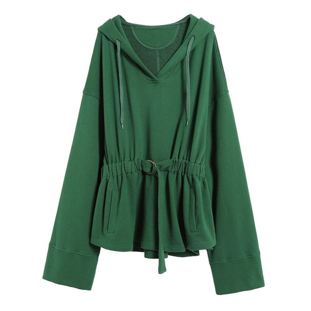 Frauenkleidung Pullover Weibliche 2018 Herbst Europäische Und Amerikanische Pullover Lange Student Persönlichkeit Mit Kapuze Puff Ärmel
