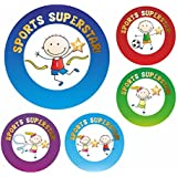 70 Sports Superstar Reward Stickers Sport Activity Club