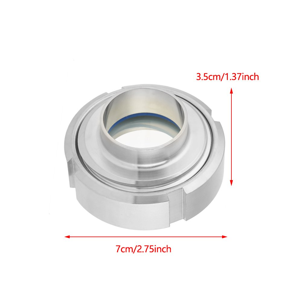 Stainless Steel SUS304 Sanitary Sight Glass Circular Viewing DN40 38mm by Wal front (Image #5)