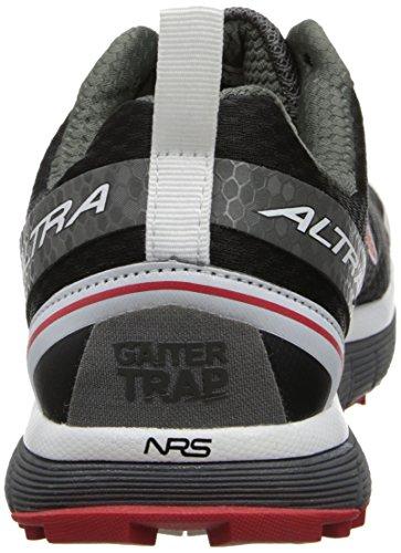 Altura - Zapatillas de running por caminos para hombres Lone Peak 2.0 Zero caída Negro / Rojo