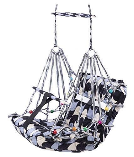 AD ENTERPRISE Cotton Swing for Kids Baby's Children Folding and Washable 1-3 Years with Safety Belt Home Garden Jhula…