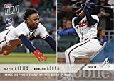 #9: 2018 Topps Now Baseball #222 Ozzie Albies/Ronald Acuna Rookie Card - Only 2,189 made!