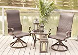 Cheap Set of 2 Cast Aluminum Swivel Rocking Wicker Patio Dining Chairs