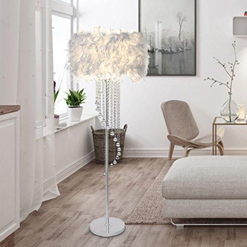 ETERN Crystal Tassel Floor Lamps Modern Simple Wedding Room Bedroom Living Room Feather Standard Lamp ( Color : White ) by ETERN Floor Lamps (Image #2)