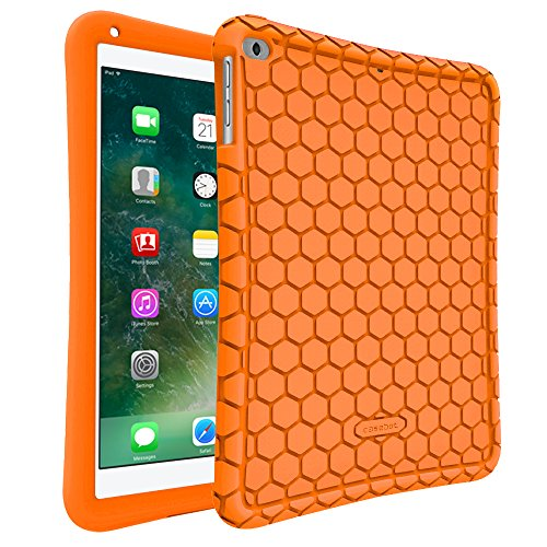 - Fintie iPad 9.7 2018 2017 / iPad Air 2 / iPad Air Case - [Honey Comb Series] Light Weight Anti Slip Kids Friendly Shock Proof Silicone Protective Cover for iPad 6th / 5th Gen, iPad Air 1 2, Orange
