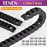 Bridge Cable Chain 10x20 15x30 40 50 Wire Carrier Transmission Plastic Drag Towline for Laser Cutting Engraving CNC Machine Tool - (Inner Size: 15x40 mm, Outer Size: TypeA, Bending Radius: Bridge)