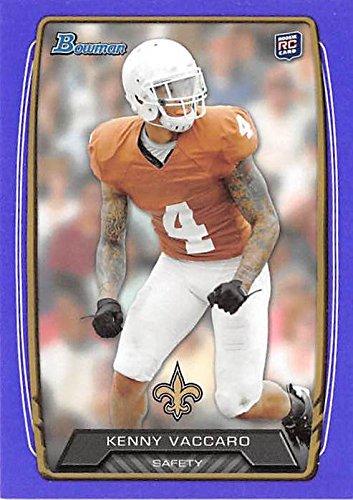 2014 Texas Longhorns Football - Kenny Vaccaro football card (University of Texas Longhorns New Orleans Saints) 2014 Topps Bowman #172 Purple Variation Rookie
