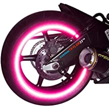 """NEW customTAYLOR33 Special Edition Hot Pink High Intensity Grade Reflective Copyrighted Safety Rim Tapes, 17"""" (Rim Size for Most SportsBikes)"""