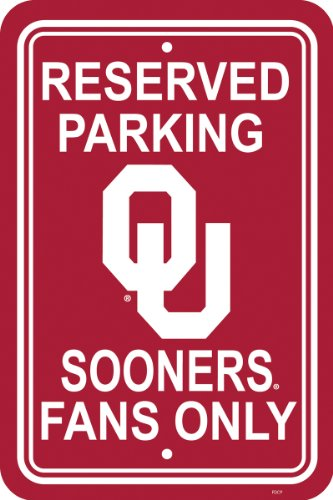 Fremont Die NCAA Oklahoma Sooners 12-by-18 inch Plastic Parking ()