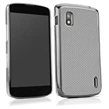 BoxWave GeckoGrip LG Nexus 4 Case - Ultra Low Profile, Slim Fit Snap Chrome Shell Cover with Smooth Rubberized Pebble Texture Back Cover - LG Nexus 4 Cases and Covers (Grey)