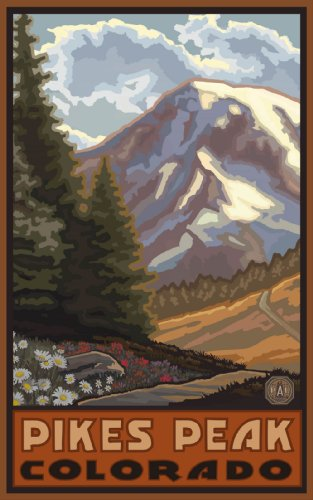 Northwest Art Mall Pikes Peak Colorado Wall Art by Paul A. Lanquist, 11-Inch by - Colorado Malls