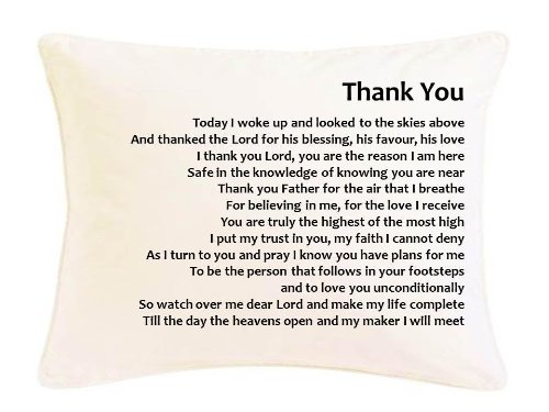 Personalised prayer poem cushion gift thank you suitable for personalised prayer poem cushion gift thank you suitable for any occasion birthday negle Gallery