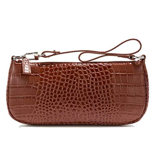 Shoulder Bag For Women Handbags Ins Crocodile Pattern Baguette Bag ()