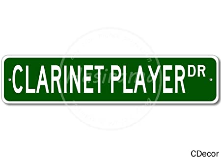 Clarinet Player Street -Cartel De Chapa Advertencia Placa ...