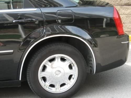 2005-2010 CHEVY CHEVROLET COBALT BLACK WHEEL WELL MOLDINGS FENDER TRIM KIT 4PC 2006 2007 2008 2009 05 06 07 08 09 10