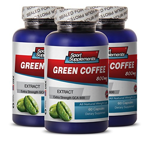 Perfect Garcinia Cambogia and Honest Green Coffee - Green Coffee Extract 800mg - Premium Green Coffee Bean Extract for Natural Weight Loss (3 Bottles 180 Capsules) by ''Sport Supplement, LLC''