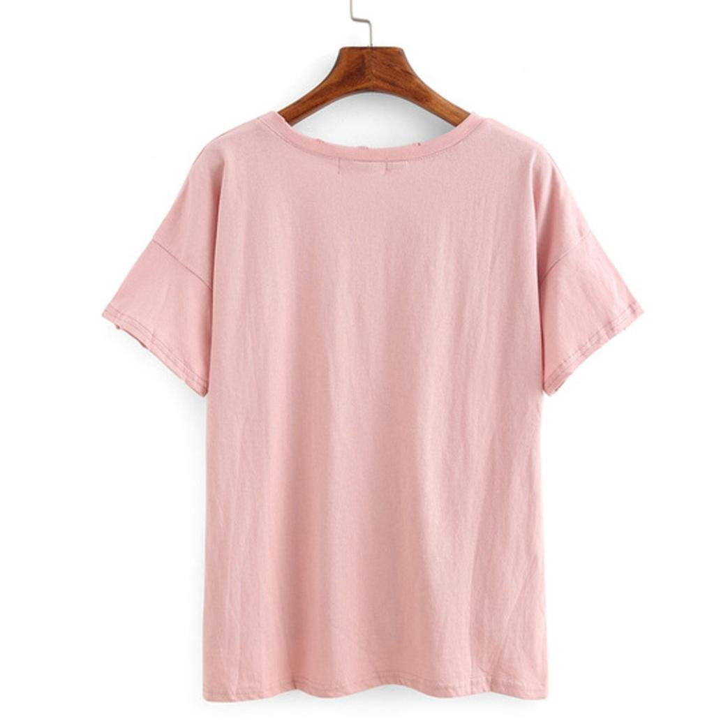 a40c32fb512661 Amazon.com: Women's Ripped Tee,Neartime T-Shirt with Holes 2017 Fashion Tops:  Clothing