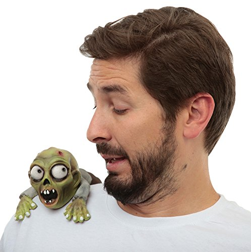 Ghoulish Productions Green Zombie Shoulder Buddy Halloween Clip-On Costume Accessory