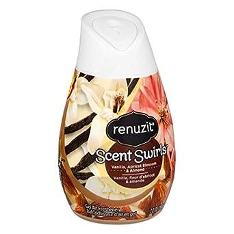 Renuzit Scent Swirls Air Freshener, Vanilla, Apricot Blossom & Almond, Solid, 7oz(Case of 12)