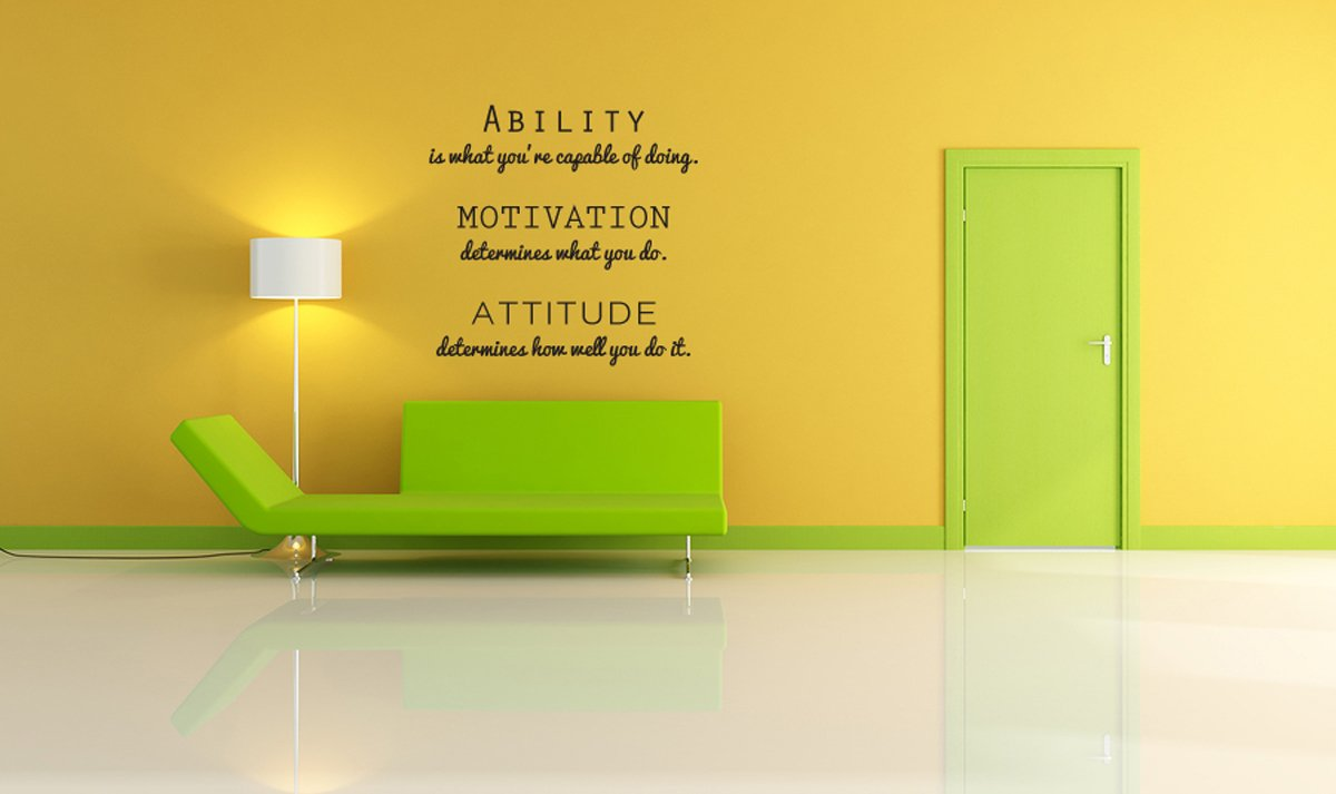 Inspirational Attitude Vinyl Wall Decal Quotes Wall Stickers ...
