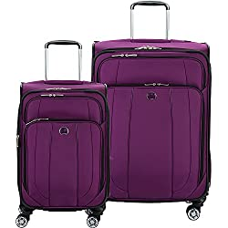 Delsey Luggage Helium Cruise 21 and 25 Spin Lug, Purple