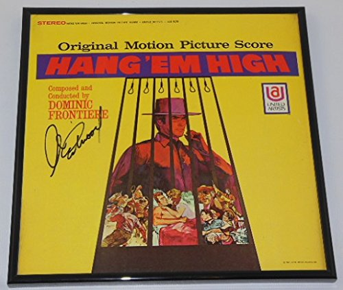 Autographed Record - Hang 'Em High Clint Eastwood Hand Signed Autographed Original Motion Picture Soundtrack Record Album with Vinyl Framed Loa