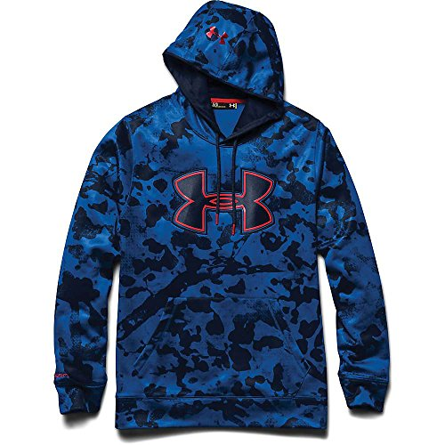 Under Armour Fleece Storm Printed Big Logo Hoody - Men's Scatter / Academy / Risk Red Large