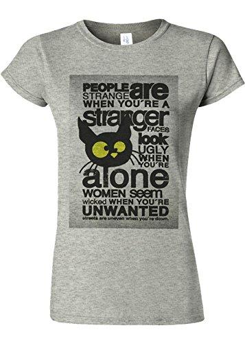 純度バーゲンアフリカ人Motivational Quote Novelty Sports Grey Women T Shirt Top-L