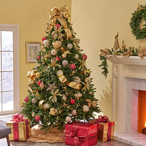 - Great Deal Furniture 307345 7.5-Foot Norway Spruce Pre-Lit LED or Unlit Hinged Artificial Christmas Tree