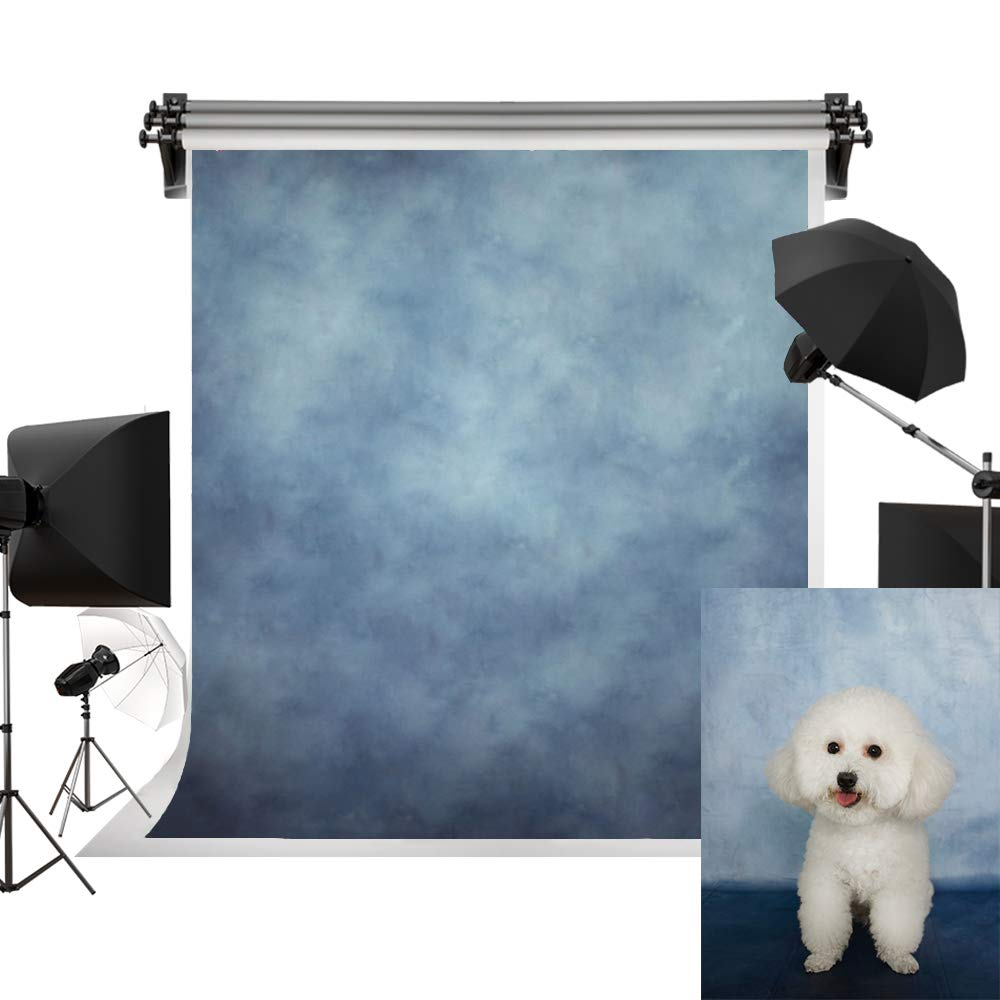 Kate 5x7ft/1.5m(W) x2.2m(H) Blue Background Portrait Photography Abstract Texture Backdrop Photography Studio Props Photographer Kids Children