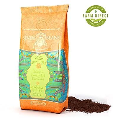 """Eka"" Ground Coffee Beans - Medium Roast - Single Origin Indian Gourmet Coffee by Seven Beans Coffee Company"