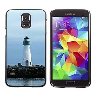 TopCaseStore / la caja del caucho duro de la cubierta de protección de la piel - Lighthouse Lonely Lighthouse - Samsung Galaxy S5 SM-G900