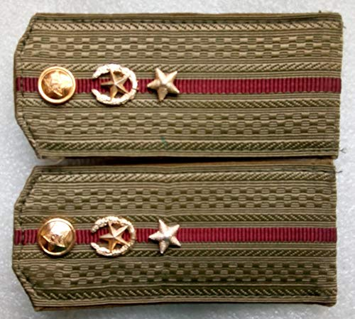 Shoulder straps Jr. lieutenant Internal troops For shirt USSR Soviet Union Russian Armed Forces Military Uniform Cold War Era