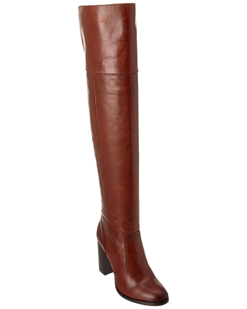 FRYE Women's Claude OTK Leather Slouch Boot B0191ZK0W2 5.5 B(M) US|Redwood Smooth Vintage Leather