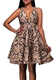 made2envy Jacquard Skater Party Dress (L, Beige) LC22939LBG