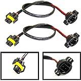 (2) iJDMTOY 5202 to H11 Pigtail Sockets Wires For Subaru BRZ Scion FR-S Fog Lamps Conversion Retrofit