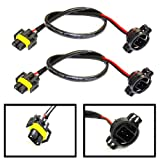 (2) iJDMTOY 5202 to H11 Pigtail Sockets Wires For Subaru BRZ Scion FR-S Fog Lamps Conversion Retrofit