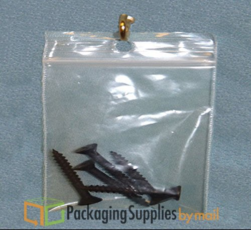 2 Mil 9000 - 9 X 12 Reclosable Bags with Hang Hole Bags 9000 Pieces by PSBM by PackagingSuppliesByMail