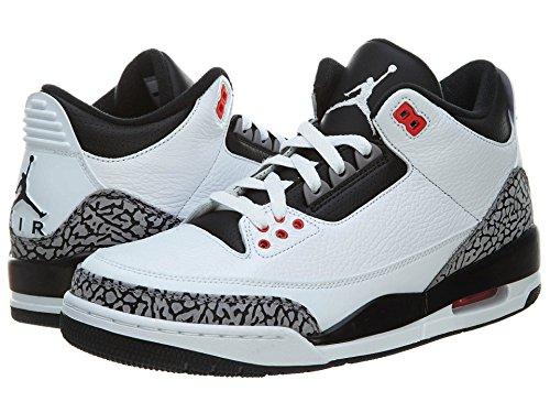 De Sport Homme Retro Jordan Nike Air Blanc 3 Chaussures Xpqv7q