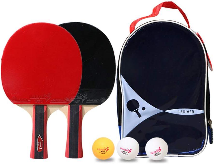 Niguleser Mesa De Ping Pong Murciélagos Y Bolas De Set, Rojo Y Negro De Caucho Superficial, Mesa De Ping Pong Raqueta De Repuesto para La Escuela, El Hogar, Club Deportivo, De Oficina