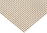 Bronze Woven Mesh Sheet, Unpolished (Mill) Finish, ASTM E2016-06, 36'' Width, 36'' Length, 0.028'' Wire Diameter, 60% Open Area