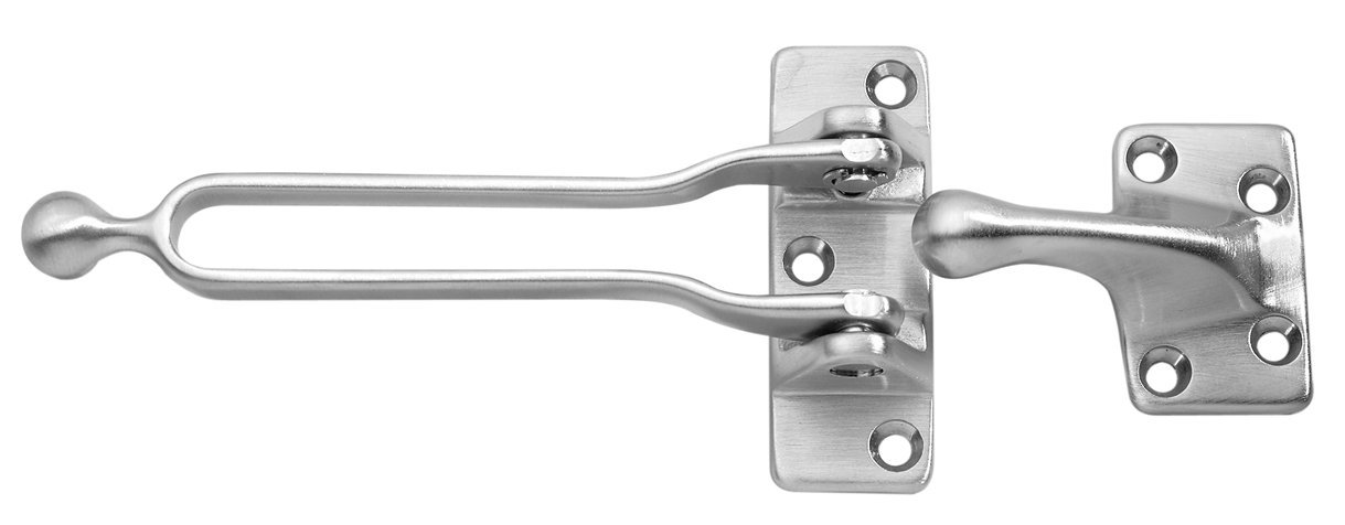 Rockwood 085870 604.26D Door Guard Cast Brass Satin Chrome Finish Yale Commercial Locks and Hardware